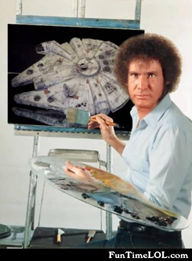 Bob Ross and Han Solo