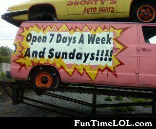 Open 7 days a week and sundays!