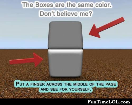 The boxes are the same color