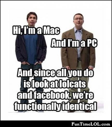 Hi, I'm a mac and I'm a PC