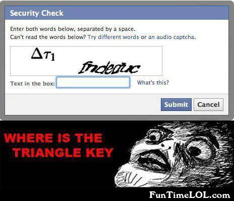 Where is the triangle key