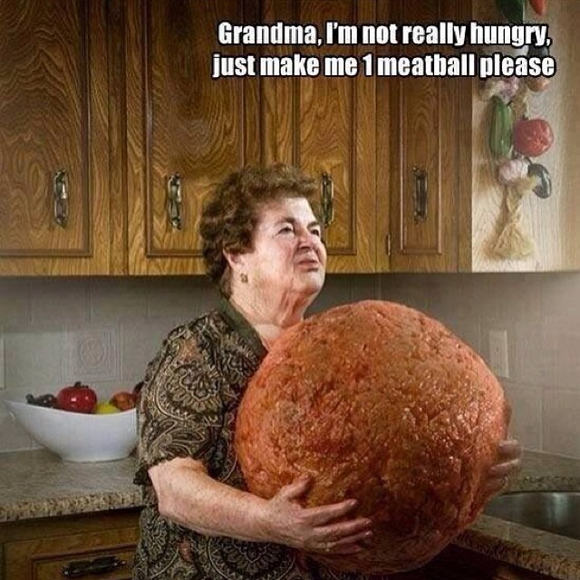 Grandma, I'm not really hungry