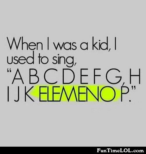 The alphabet as a kid