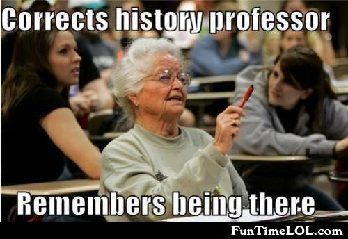 Corrects history professor