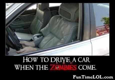 How to drive a car when the zombies come