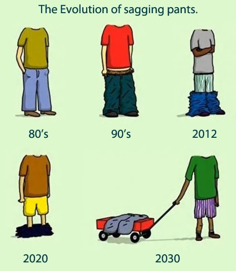 The evolution of sagging pants