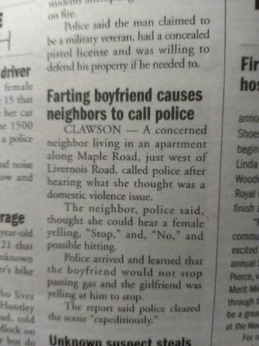 farting boyfriend causes neighbors to call police
