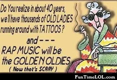 rap music will be the golden oldies