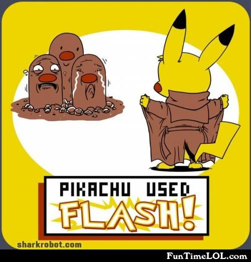 Pikachu used flash!