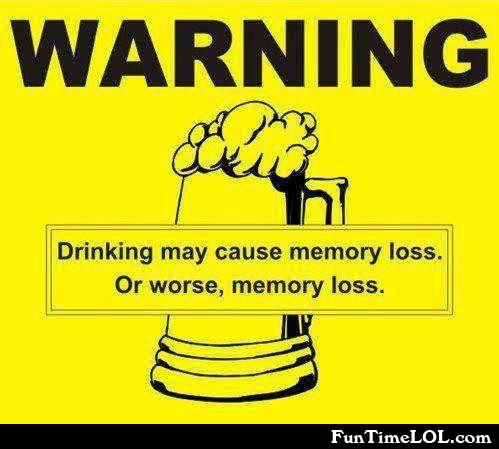 Drinking may cause memory loss