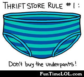 thrift store rule 1