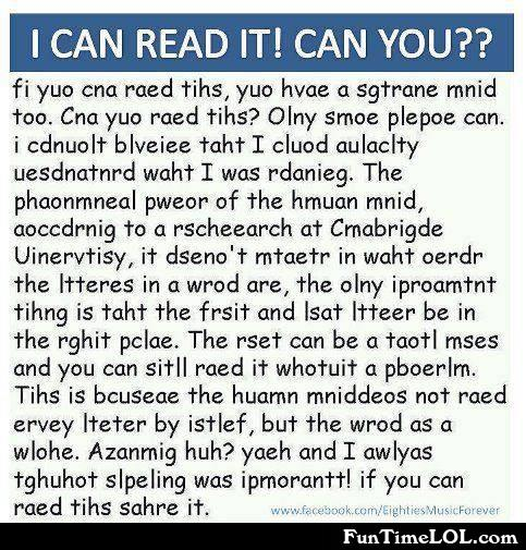 I can read it! Can you?
