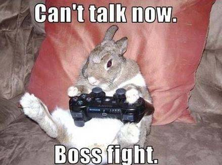 Can't talk now. Boss fight