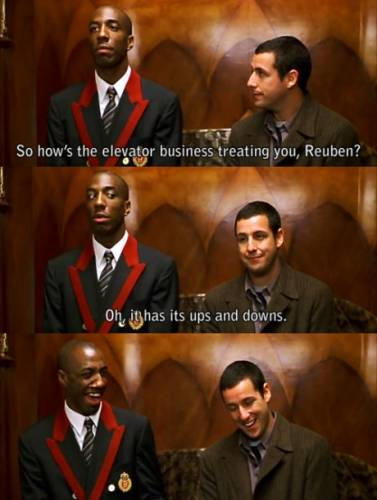 So how's the elevator business treating you, Reuben?