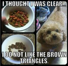 I do not like the brown triangles