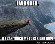 i wonder if i can touch my toes