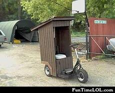 outhouse scooter