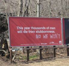 this year thousands of men will die from stubbornness